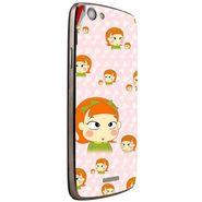 Snooky 47282 Digital Print Mobile Skin Sticker For Xolo A510S - Orange