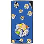 Snooky 47343 Digital Print Mobile Skin Sticker For Xolo A600 - Blue