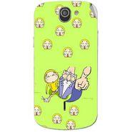 Snooky 47537 Digital Print Mobile Skin Sticker For Xolo Q600 - Green