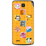 Snooky 47615 Digital Print Mobile Skin Sticker For Xolo Q700 - Yellow