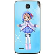 Snooky 47622 Digital Print Mobile Skin Sticker For Xolo Q700 - Blue