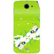Snooky 47770 Digital Print Mobile Skin Sticker For Xolo Q1000 - Green