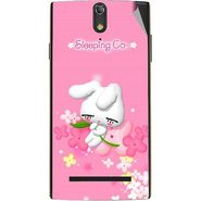 Snooky 47864 Digital Print Mobile Skin Sticker For Xolo Q1020 - Pink