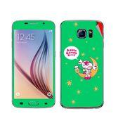 Snooky 48214 Digital Print Mobile Skin Sticker For Samsung Galaxy S6 - Green