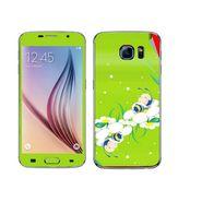 Snooky 48217 Digital Print Mobile Skin Sticker For Samsung Galaxy S6 - Green