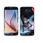Snooky 48219 Digital Print Mobile Skin Sticker For Samsung Galaxy S6 - Blue