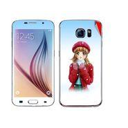 Snooky 48234 Digital Print Mobile Skin Sticker For Samsung Galaxy S6 - White