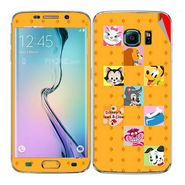 Snooky 48254 Digital Print Mobile Skin Sticker For Samsung Galaxy S6 Edge - Yellow