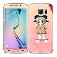 Snooky 48262 Digital Print Mobile Skin Sticker For Samsung Galaxy S6 Edge - Orange