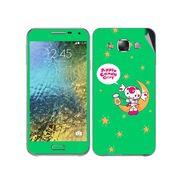 Snooky 48278 Digital Print Mobile Skin Sticker For Samsung Galaxy E7 - Green