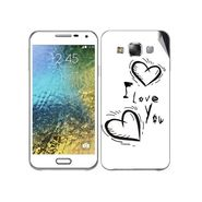 Snooky 48291 Digital Print Mobile Skin Sticker For Samsung Galaxy E7 - White