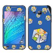 Snooky 48334 Digital Print Mobile Skin Sticker For Samsung Galaxy J1 - Blue