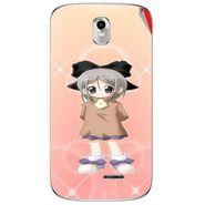 Snooky 48390 Digital Print Mobile Skin Sticker For Lava Iris 402 Plus - Orange
