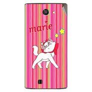 Snooky 48447 Digital Print Mobile Skin Sticker For Lava Iris 456 - Pink