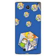 Snooky 48462 Digital Print Mobile Skin Sticker For Lava Iris 456 - Blue