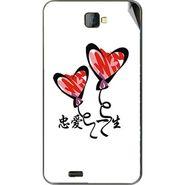 Snooky 48484 Digital Print Mobile Skin Sticker For Lava Iris 502 - White