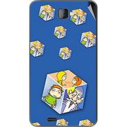 Snooky 48494 Digital Print Mobile Skin Sticker For Lava Iris 502 - Blue