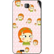 Snooky 48497 Digital Print Mobile Skin Sticker For Lava Iris 502 - Orange