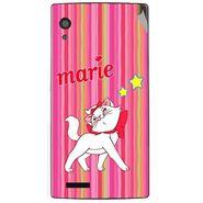 Snooky 48575 Digital Print Mobile Skin Sticker For Lava Iris Fuel 60 - Pink