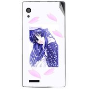 Snooky 48589 Digital Print Mobile Skin Sticker For Lava Iris Fuel 60 - White