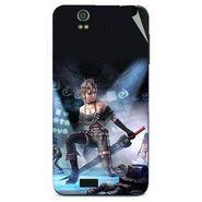 Snooky 48603 Digital Print Mobile Skin Sticker For Lava Iris selfie 50 - Blue