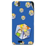 Snooky 48622 Digital Print Mobile Skin Sticker For Lava Iris selfie 50 - Blue