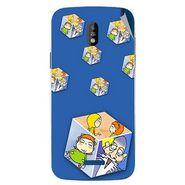 Snooky 48686 Digital Print Mobile Skin Sticker For Lava Iris 450 - Blue