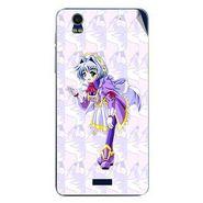 Snooky 48777 Digital Print Mobile Skin Sticker For Lava Iris Pro 20 - Purple