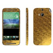 Snooky 18294 Mobile Skin Sticker For Htc One M8 - Gold