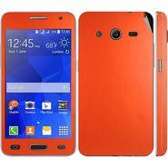Snooky 20542 Mobile Skin Sticker For Samsung Galaxy Core 2 G355h - Orange