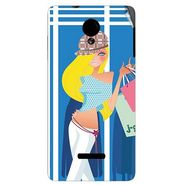 Snooky 42421 Digital Print Mobile Skin Sticker For Micromax Canvas Fun A74 - Blue