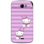 Snooky 42623 Digital Print Mobile Skin Sticker For Micromax Canvas 2 A110 - Pink