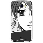 Snooky 42626 Digital Print Mobile Skin Sticker For Micromax Canvas 2 A110 - Grey