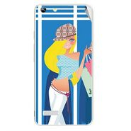 Snooky 42784 Digital Print Mobile Skin Sticker For Micromax Canvas Hue AQ5000 - Blue