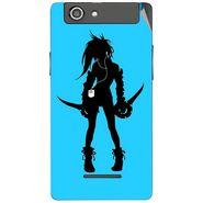 Snooky 42867 Digital Print Mobile Skin Sticker For XOLO A500s - Blue