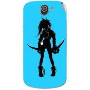 Snooky 42977 Digital Print Mobile Skin Sticker For Xolo Q600 - Blue