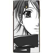 Snooky 43099 Digital Print Mobile Skin Sticker For Xolo Q1020 - Grey