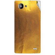 Snooky 43221 Mobile Skin Sticker For Intex Aqua HD - Golden