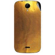 Snooky 43233 Mobile Skin Sticker For Intex Aqua i3 - Golden
