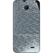 Snooky 43577 Mobile Skin Sticker For Intex Aqua Y2 Remote - silver