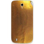 Snooky 43653 Mobile Skin Sticker For Intex Cloud Y4 Plus - Golden