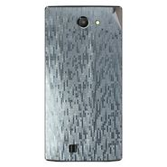 Snooky 43757 Mobile Skin Sticker For Lava Iris 456 - silver