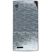 Snooky 43805 Mobile Skin Sticker For Lava Iris Fuel 60 - silver