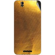 Snooky 43881 Mobile Skin Sticker For Lava Iris X1 - Golden