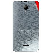 Snooky 43961 Mobile Skin Sticker For Micromax Canvas Fun A76 - silver