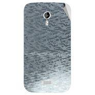 Snooky 44033 Mobile Skin Sticker For Micromax Canvas Lite A92 - silver
