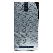 Snooky 44693 Mobile Skin Sticker For Xolo Q2000 - silver