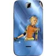 Snooky 45884 Digital Print Mobile Skin Sticker For Micromax Ninja 3.5 A54 - Blue