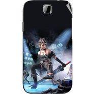 Snooky 45885 Digital Print Mobile Skin Sticker For Micromax Ninja 3.5 A54 - Blue