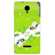 Snooky 45915 Digital Print Mobile Skin Sticker For Micromax Canvas Fun A74 - Green